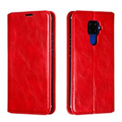 Retro Slim Magnetic Crazy Horse PU Leather Wallet Case for Huawei Mate 30 Lite(Nova 5i Pro) - Red