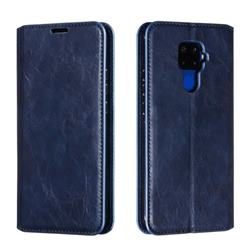 Retro Slim Magnetic Crazy Horse PU Leather Wallet Case for Huawei Mate 30 Lite(Nova 5i Pro) - Blue