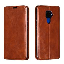 Retro Slim Magnetic Crazy Horse PU Leather Wallet Case for Huawei Mate 30 Lite(Nova 5i Pro) - Brown