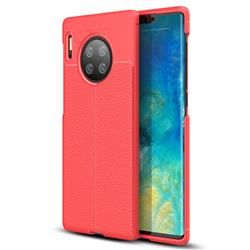 Luxury Auto Focus Litchi Texture Silicone TPU Back Cover for Huawei Mate 30 Pro - Red