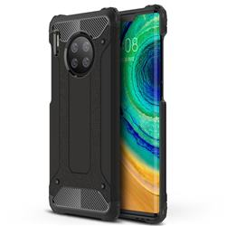 King Kong Armor Premium Shockproof Dual Layer Rugged Hard Cover for Huawei Mate 30 Pro - Black Gold