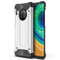 King Kong Armor Premium Shockproof Dual Layer Rugged Hard Cover for Huawei Mate 30 Pro - White