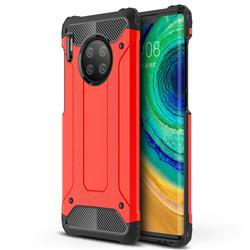 King Kong Armor Premium Shockproof Dual Layer Rugged Hard Cover for Huawei Mate 30 Pro - Big Red