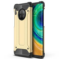 King Kong Armor Premium Shockproof Dual Layer Rugged Hard Cover for Huawei Mate 30 Pro - Champagne Gold