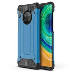King Kong Armor Premium Shockproof Dual Layer Rugged Hard Cover for Huawei Mate 30 Pro - Sky Blue