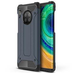 King Kong Armor Premium Shockproof Dual Layer Rugged Hard Cover for Huawei Mate 30 Pro - Navy