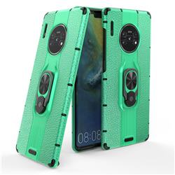 Alita Battle Angel Armor Metal Ring Grip Shockproof Dual Layer Rugged Hard Cover for Huawei Mate 30 Pro - Green