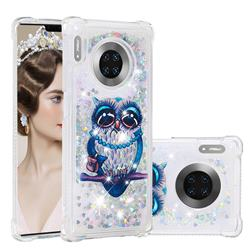 Sweet Gray Owl Dynamic Liquid Glitter Sand Quicksand Star TPU Case for Huawei Mate 30 Pro
