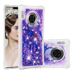 Retro Wind Chimes Dynamic Liquid Glitter Sand Quicksand Star TPU Case for Huawei Mate 30 Pro