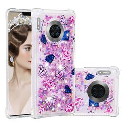 Diamond Dynamic Liquid Glitter Sand Quicksand Star TPU Case for Huawei Mate 30 Pro