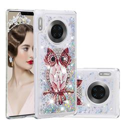 Seashell Owl Dynamic Liquid Glitter Quicksand Soft TPU Case for Huawei Mate 30 Pro