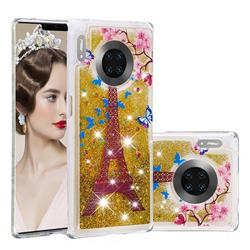 Golden Tower Dynamic Liquid Glitter Quicksand Soft TPU Case for Huawei Mate 30 Pro