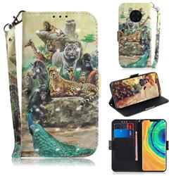 Beast Zoo 3D Painted Leather Wallet Phone Case for Huawei Mate 30 Pro