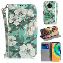 Watercolor Flower 3D Painted Leather Wallet Phone Case for Huawei Mate 30 Pro