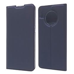 Ultra Slim Card Magnetic Automatic Suction Leather Wallet Case for Huawei Mate 30 Pro - Royal Blue