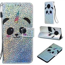 Panda Unicorn Sequins Painted Leather Wallet Case for Huawei Mate 30 Pro