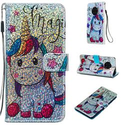 Star Unicorn Sequins Painted Leather Wallet Case for Huawei Mate 30 Pro