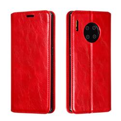 Retro Slim Magnetic Crazy Horse PU Leather Wallet Case for Huawei Mate 30 Pro - Red