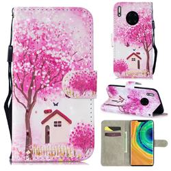 Tree House 3D Painted Leather Wallet Phone Case for Huawei Mate 30 Pro