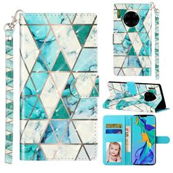 Stitching Marble 3D Leather Phone Holster Wallet Case for Huawei Mate 30 Pro