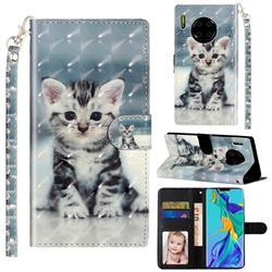 Kitten Cat 3D Leather Phone Holster Wallet Case for Huawei Mate 30 Pro