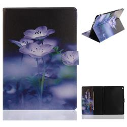 Blue Flowers Painting Tablet Leather Wallet Flip Cover for Huawei MediaPad M3 Lite 10