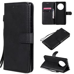 Retro Greek Classic Smooth PU Leather Wallet Phone Case for Huawei Mate 40 - Black