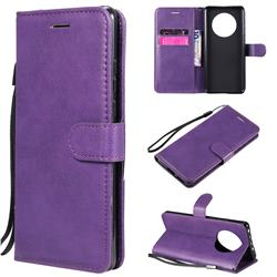 Retro Greek Classic Smooth PU Leather Wallet Phone Case for Huawei Mate 40 - Purple