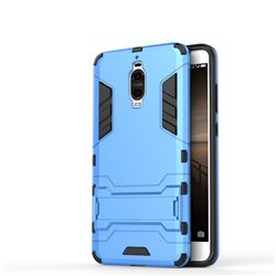 Armor Premium Tactical Grip Kickstand Shockproof Dual Layer Rugged Hard Cover for Huawei Mate 9 Pro 5.5 inch - Light Blue