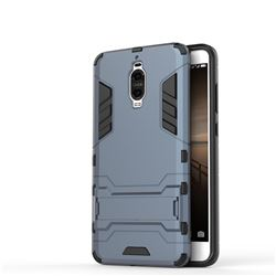 Armor Premium Tactical Grip Kickstand Shockproof Dual Layer Rugged Hard Cover for Huawei Mate 9 Pro 5.5 inch - Navy