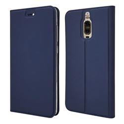 Ultra Slim Card Magnetic Automatic Suction Leather Wallet Case for Huawei Mate 9 Pro 5.5 inch - Royal Blue
