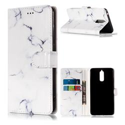 Soft White Marble PU Leather Wallet Case for Huawei Mate 9 Pro 5.5 inch
