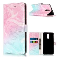 Pink Green Marble PU Leather Wallet Case for Huawei Mate 9 Pro 5.5 inch
