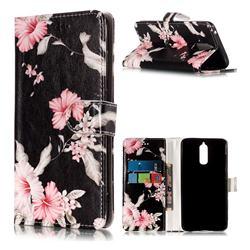 Azalea Flower PU Leather Wallet Case for Huawei Mate 9 Pro 5.5 inch