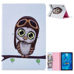 Owl Pilots Folio Stand Leather Wallet Case for Huawei MediaPad M5 10 / M5 10 inch (Pro)