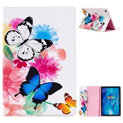 Vivid Flying Butterflies Folio Stand Leather Wallet Case for Huawei MediaPad M5 10 / M5 10 inch (Pro)