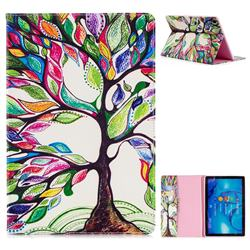 The Tree of Life Folio Stand Leather Wallet Case for Huawei MediaPad M5 10 / M5 10 inch (Pro)