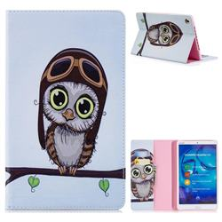 Owl Pilots Folio Stand Leather Wallet Case for Huawei MediaPad M5 8 inch