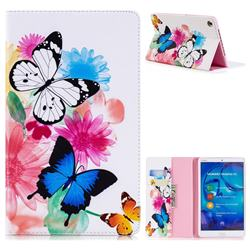 Vivid Flying Butterflies Folio Stand Leather Wallet Case for Huawei MediaPad M5 8 inch