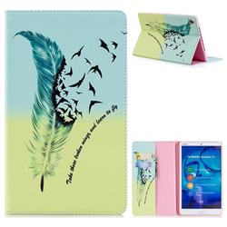 Feather Bird Folio Stand Leather Wallet Case for Huawei MediaPad M5 8 inch