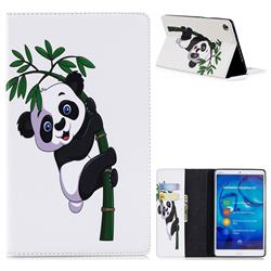 Bamboo Panda Folio Stand Leather Wallet Case for Huawei MediaPad M5 8 inch