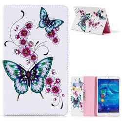 Peach Butterflies Folio Stand Leather Wallet Case for Huawei MediaPad M5 8 inch