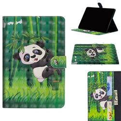 Climbing Bamboo Panda 3D Painted Leather Tablet Wallet Case for Huawei MediaPad M5 Lite(10.1 inch)