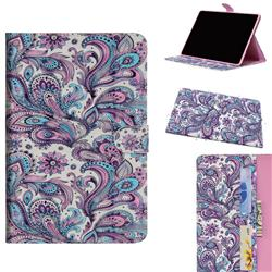 Swirl Flower 3D Painted Leather Tablet Wallet Case for Huawei MediaPad M5 Lite(10.1 inch)