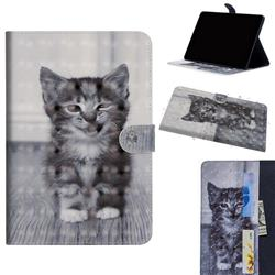 Smiling Cat 3D Painted Leather Tablet Wallet Case for Huawei MediaPad M5 Lite(10.1 inch)