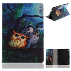 Oil Painting Owl Painting Tablet Leather Wallet Flip Cover for Huawei MediaPad T3 10
