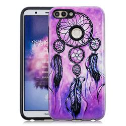 Starry Wind Chimes Pattern 2 in 1 PC + TPU Glossy Embossed Back Cover for Huawei P Smart(Enjoy 7S)