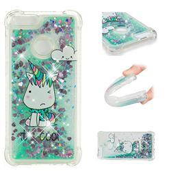Tiny Unicorn Dynamic Liquid Glitter Sand Quicksand Star TPU Case for Huawei P Smart(Enjoy 7S)