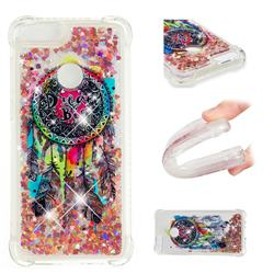 Seal Wind Chimes Dynamic Liquid Glitter Sand Quicksand Star TPU Case for Huawei P Smart(Enjoy 7S)