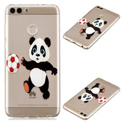 Football Panda Super Clear Soft TPU Back Cover for Huawei P Smart(Enjoy 7S)